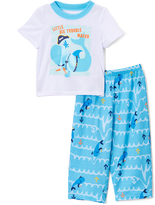 Komar Kids Blue & White 'Little Big Trouble Maker' Pajama Set - Toddler