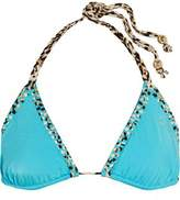 Just Cavalli Embellished Triangle Bikini Top