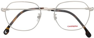 Carrera Hexagonal tortoiseshell detail eyeglasses