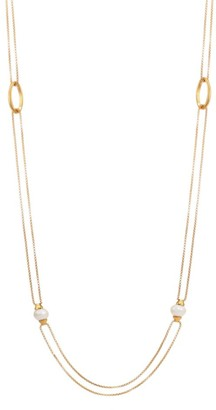 Dean Davidson Origami 22K Yellow Goldplated & 6MM Freshwater Pearl Charm Infinity Necklace