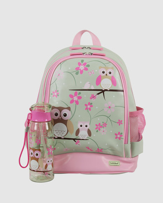 Bobbleart Large Backpack and Drink Bottle Pack Owl
