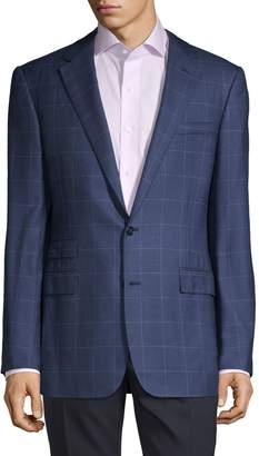 Ralph Lauren Purple Label Windowpane Cashmere & Wool-Blend Sportcoat