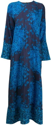 Valentino Floral-Print Maxi Dress