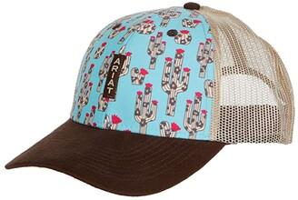 Ariat Cactus Panel Mesh Back Cap (Turquoise/Brown) Caps