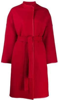 Pinko leather trim coat