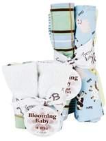 Trend Lab 20949 Bouquet Set - Baby Barnyard - Bib & Burp Cloth