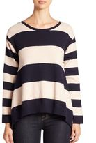 Stella McCartney Contrast-Back Striped Cashmere & Wool Sweater