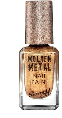 Barry M Molten Metals Nail Paint 10Ml Celestial Silver