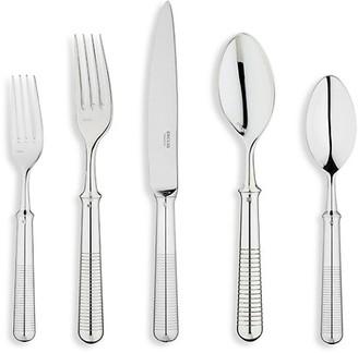 Ercuis Transat Silver Plate Five-Piece Stainless Steel Flatware Set