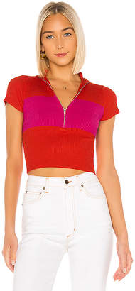 superdown Hallie Mock Neck Top