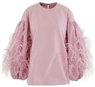 Valentino Top with feathered sleeves