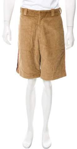 Palm Angels Striped Corduroy Shorts w/ Tags