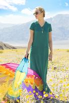 Shabby Apple Hannah Rayon Challis Maxi Dress Green