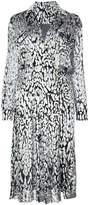ADAM by Adam Lippes Ocelot velvet wrap shirt dress
