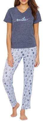 ED Ellen Degeneres Lazy Days Knit Pajama Set