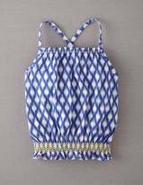 Boden Jersey Smocked Top