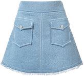 Derek Lam 10 Crosby A-line pocket skirt - women - Cotton - L