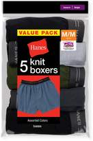 Red Label Redabe Hanes Boys' Exposed Eastic Knit Boxer, Assorted Soids, Size
