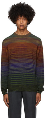 Missoni Blue and Green Knit Striped Sweater