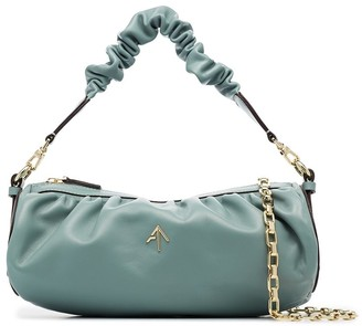 MANU Atelier Cylinder ruched shoulder bag
