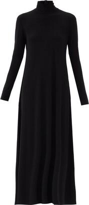 Norma Kamali Roll-neck A-line Jersey Dress - Black
