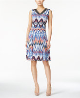 JM Collection Sleeveless Printed Dress, Only at Macy's
