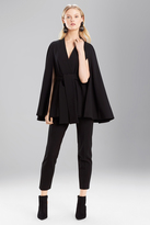 Josie Natori Double Knit Jersey Cape Jacket