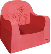 P'kolino Playful Embroidery Flower Kids Foam Chair with Storage Compartment