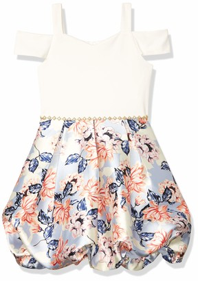 Speechless Girls' Off The Shoulder Bubble Skirt Party Dress