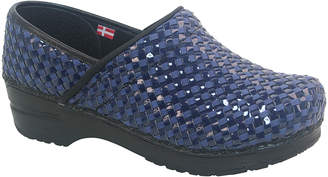 Sanita Women's Clogs 029-Navy - Navy Lattice Leather Clog - Women