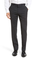 Theory Marlo Flat Front Stripe Stretch Wool Trousers