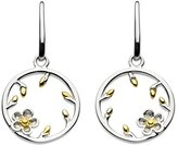 Kit Heath Sterling Silver and 18ct Gold Plate Blossom Woodrose Bud Drop Earrings
