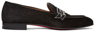 Christian Louboutin Black Magenile Loafers