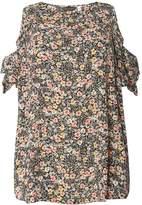 Dorothy Perkins DP Curve Floral Cold Shoulder Top