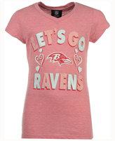 5th & Ocean Girls' Baltimore Ravens Pink #1 Fan T-Shirt