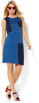New York & Co. Soho Jeans - Patchwork Shift Dress - Blue Daze Wash