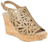 Pierre Dumas Taupe Lolita Wedge Sandal