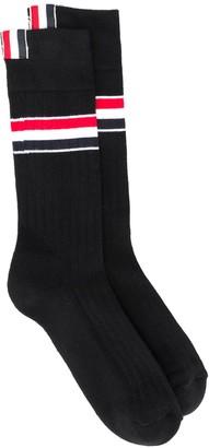 Thom Browne RWB-stripe mid-calf socks