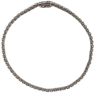 Eva Fehren 18k Blackened White Gold & Diamond Bracelet
