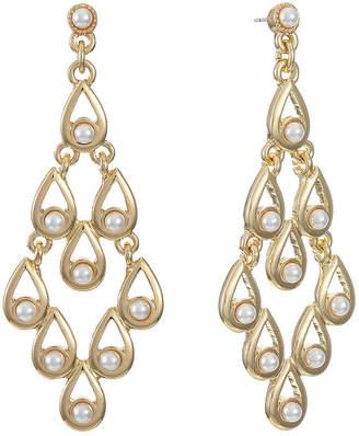 MONET JEWELRY Monet Jewelry 1 Pair White Chandelier Earrings