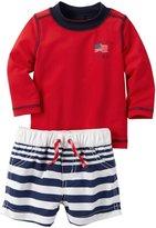 Carter's 2 Piece Swim Set (Baby) - Red - Newborn