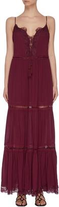 Jonathan Simkhai Lace detail fringed maxi dress