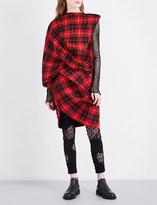 Junya Watanabe Tartan pleated woven dress
