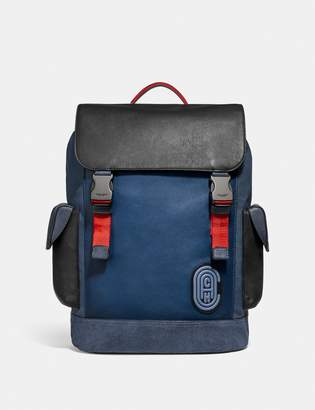 Coach Rivington Backpack In Colorblock With Patch