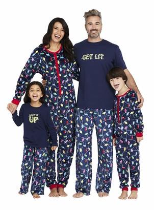Karen Neuburger Women's Get Lit Family Matching Christmas Holiday Pajama Sets PJ Kid XS