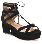 Aquazzura Beverly Hills Suede Lace-Up Platform Sandals