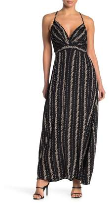 Angie Floral Spaghetti Strap Maxi Dress