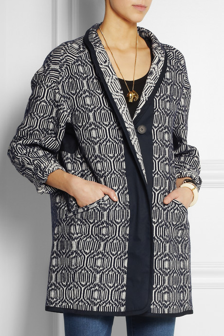 Etoile Isabel Marant Ebba cotton-blend blanket coat