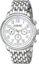 August Steiner Men's AS8147SSW Analog Display Swiss Quartz Silver Watch