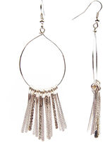 Arizona Drop Stone Bar Silver-Tone Earrings